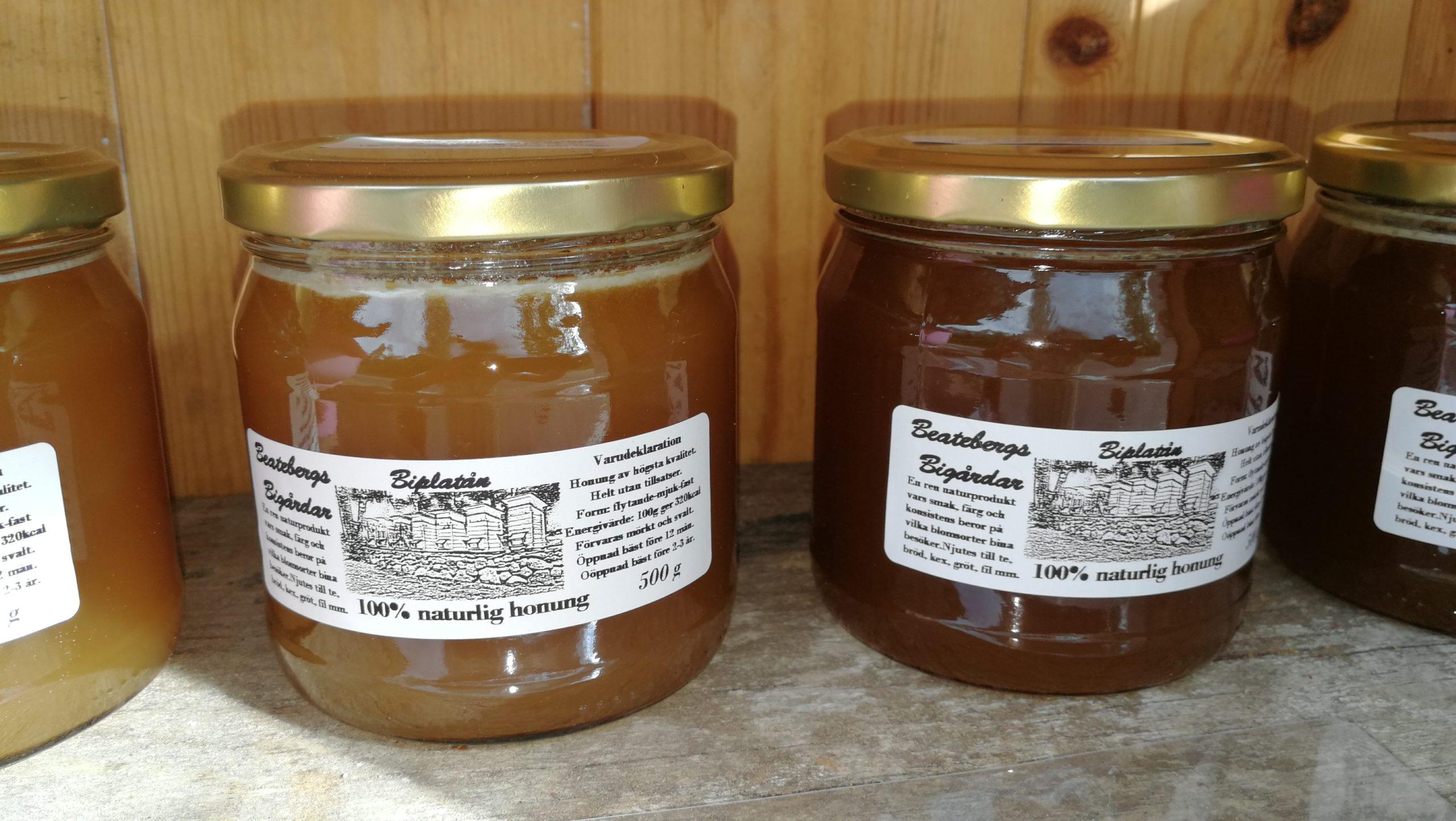 Fjolårets honung är nu slut i lager